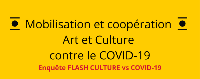 Coopération Art et Culture contre le COVID 19 Enquête FLASH CULTURE vs COVID 19